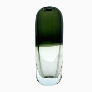 Objeto Pilleri 3599 Art de vidrio transparente y verde de Timo Sarpaneva para Iittala Finland, 1957