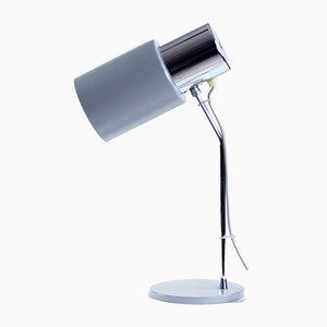 Tischlampe aus Chrom und grauem Metall von Josef Hurka für Napako, 1960er