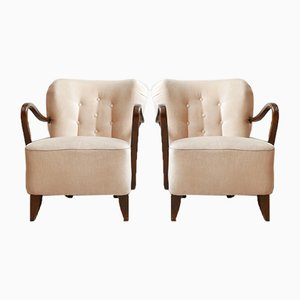 French Art Deco Armchairs, Set of 2