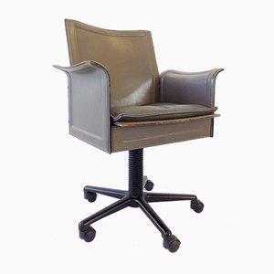 Matteo Grassi Corium Leather Office Chair by Tito Agnoli