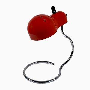 Rote Topo Tischlampe von Joe Colombo für Stilnovo, 1970er