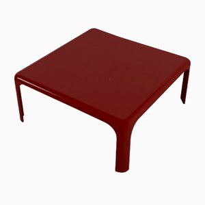 Burgundy Demetrio Coffee Table by Vico Magistretti for Artemide, 1960s