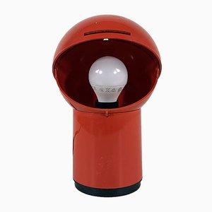 Lámpara de mesa en forma de globo con cubierta abatible, años 70