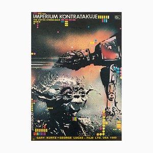 Polish Film Poster Promoting The Empire Strikes Back by Lakomski, 1980