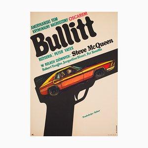 Polish Film Poster Promoting Bullitt by Stachurski, 1971