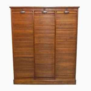Vintage Oak Shutterfront Cabinet with 3 Shutters