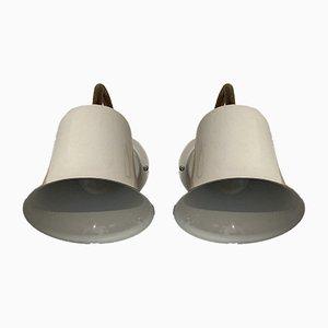 Skandinavische Wandlampen, 1950er, 2er Set