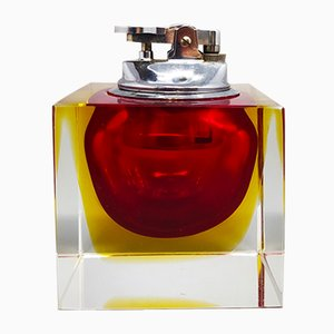 Sommerso Murano Glass Table Lighter by Flavio Poli for Seguso, 1960s