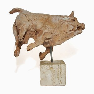 Toro Terracotta by Mario Bertozzi