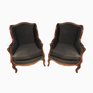 Louis XV Style Armchairs, Set of 2
