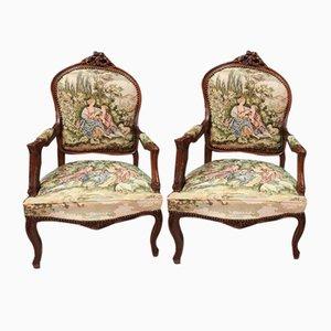 Butacas estilo Louis XV. Juego de 2