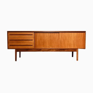 Mid-Century Teak Sideboard with Sliding Doors and a Bank of Drawers from White and Newton