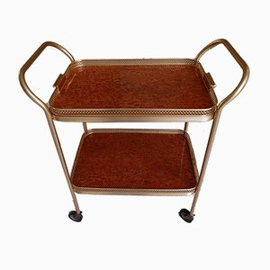 Vintage Birdseye Maple Serving Trolley from Kaymet