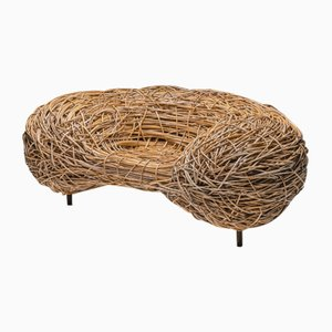 Campana Brothers or Porky Hefer Style Rattan Easy Chair, 2000s