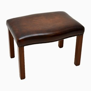 Antique Georgian Style Leather Stool