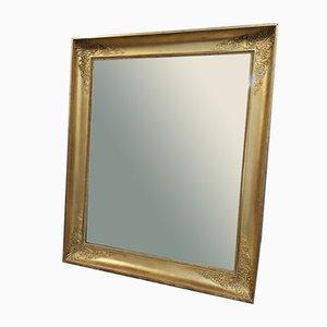 Rechteckiger vergoldeter Vintage Spiegel im Napoleon III Stil