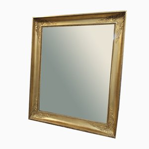 Vintage Napoleon III Style Rectangular Gilt Mirror