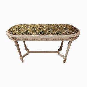 Vintage Louis XVI Style 2-Seater Piano Bench