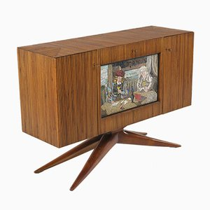 Breadstick Sideboard with Mosaic by Tito Varisco, 1950s