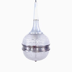 Space Age Rostrato Glass Ceiling Lamp, 1970s