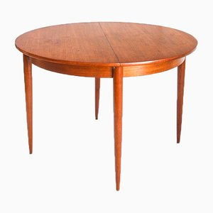 French Scandinavian Style Teak Dining Table with Extension, 1960s