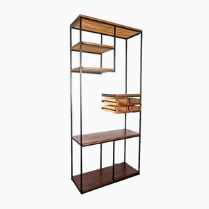 Industrial Iron & Wood Bookcase, 1970s