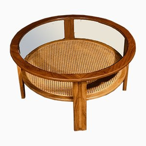 Mid-Century Coffee Table with Rattan Rack by Victor Wilkins for G Plan