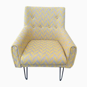 Reupholstered Mid-Century Chair