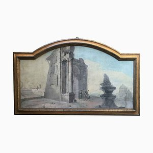 Large Arched Landscape - 18th Century - Italian