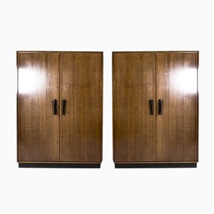 Model 5250 Wardrobes in the Style of Jindrich Halabala, 1950s, Set of 2