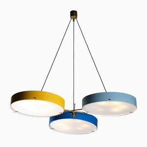 Lampada da soffitto in stile Bruno Gatta in metallo laccato di Stilnovo
