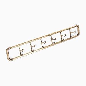 Art Deco Style Brass Paret Coat Rack, France, 1950s