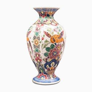 Jarrón holandés vintage de cerámica policromada, años 60