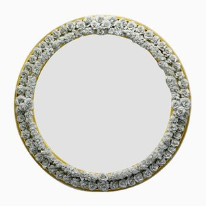 Porcelain & Wood Mirror Frame by Giulio Tucci
