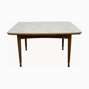 Formica Coffee Table with Extendable and Adjustable Height, 1950s