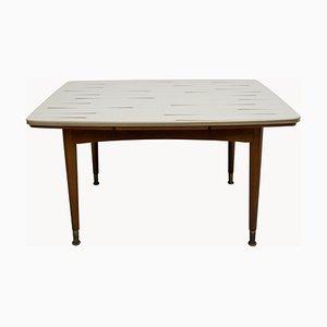 Mesa de centro de formica con altura regulable y extensible, años 50