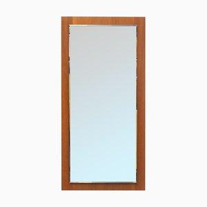 Espejo de pared de teca, años 60