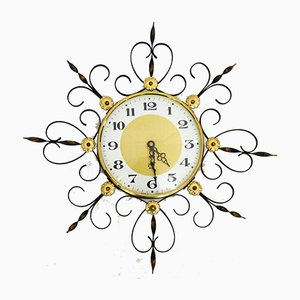 Japy Sun Wrought Iron Model 231 Wall Clock