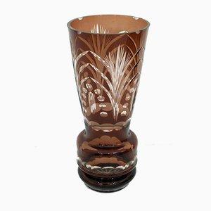 Large Cut Crystal Vase