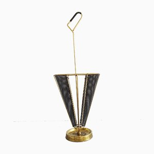 Mid-Century Umbrella Stand in Mategot Style by Mathieu Matégot