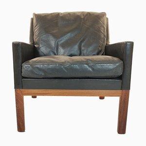Leather Club Chair by Kai Lyngfeldt Larsen for Søren Willadsen, Denmark, 1960s