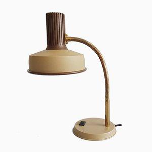 Beige Metall Tischlampe in Braun