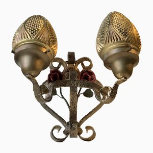 French Wrought Iron Sconce, 1920s