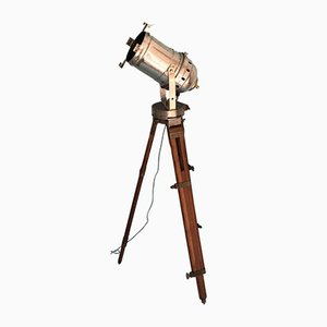 Industrial Theater Floor Lamp on Tripod from Ernemann Werke, 1930s