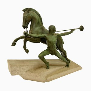 Art Deco French Sculpture C. Charles for Max Le Verrier, 1930s