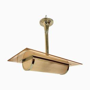 Lámpara de techo francesa Art Déco, años 30