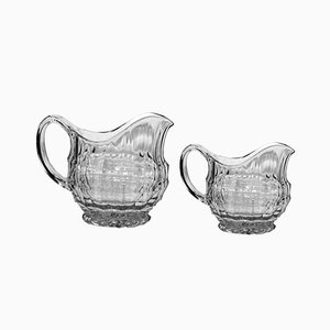 Glass Jugs by Eduard Wimmer-Wisgrill for Lobmeyr, 1930s, Set of 2