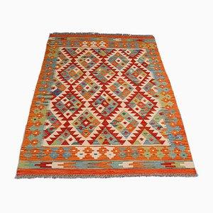 Orientalischer Dekorativer Handgewebter Hallen Choli Kelim Teppich