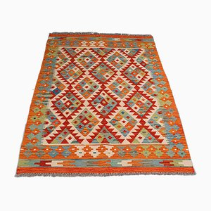 Vintage Middle Eastern Decorative Hand Woven Hall Choli Kilim Rug