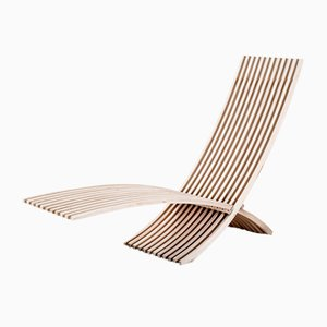 Teak Nozib Garden Folding Lounge Chair by Nils Ole Zib for Bergaform, 20th Century